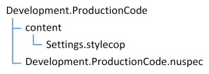 Image 3: Folder structure of Development.ProductionCode package