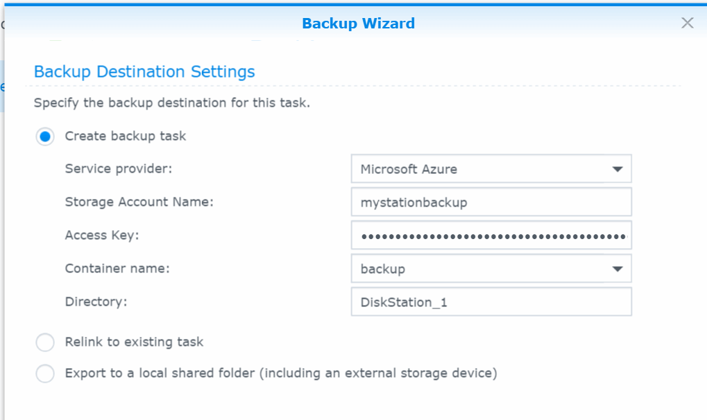 BackupTaskSettings